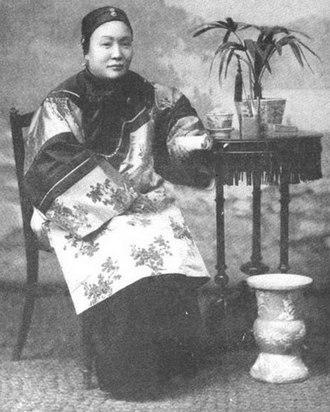 Ho Miu-ling - Madame Wu Tingfang (Ho Miu-ling), from a 1908 publication.