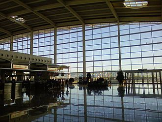Hohhot Baita International Airport - Airport interior, 2008