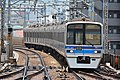 Hokuso 7300 series at Heiwajima Station (47983957068).jpg