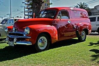 Panel van - 1953 Australian Holden FJ panel van with original Royal Mail paint work