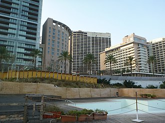 Phoenicia Hotel Beirut - Image: Holiday Inn and Phoenicia Inter Continental Hotel Beirut