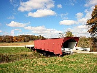 Madison County, Iowa - Hogback Bridge, one of the six remaining covered bridges in Madison County