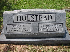 George B. Holstead - Holstead monument at Greenwood Cemetery in Ruston
