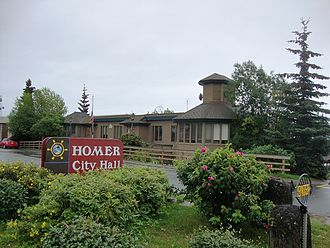 Homer, Alaska - Homer City Hall, located on Pioneer Avenue