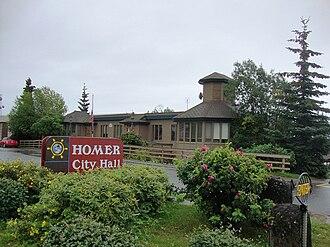Homer, Alaska - Homer City Hall, located on Pioneer Avenue