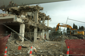 Hornby Clocktower - Demolition in October 2014