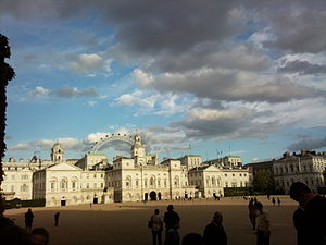 Horse Guards Parade - Horse Guards Parade with the London Eye Ferris wheel in the background.