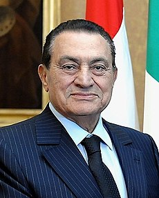 Former Egyptian president Hosni Mubarak on October 17, 2009. Image: Candito.