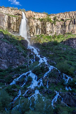 Aragatsotn Province - Gegharot waterfall near the village of Aragats