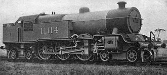 L&YR Hughes 4-6-4T - 11114 in photographic grey