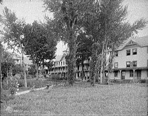 Huletts Landing, New York - Hulett House hotel, 1907.