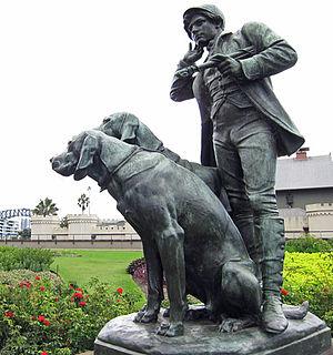 Henri Alfred Jacquemart - Image: Huntsman and dogs, Alfred Jacquemart c.1879, Botanic Gardens, Sydney, Apr 2014