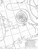 Weather map featuring Hurricane Dog, the strongest hurricane of the season