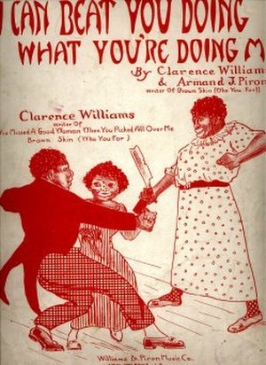 Clarence Williams (musician) - I Can Beat You Doing What You're Doing Me (sheet music cover)