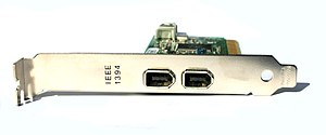 A photo of a IEEE 1394 (also known as Firewire...