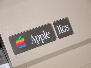 Apple IIGS - The replacement ID badges for the front lid, used in the Apple IIe-to-IIGS upgrade.