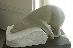 Mark Dedrie - A sculpture of a bear by Mark Dedrie