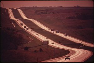 Interstate 80 in Nebraska - Interstate 80 in May 1973