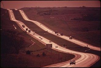 Interstate 80 in Nebraska - Interstate 80 in May 1973