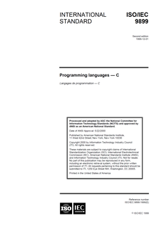 C99 C programming language standard, 1999 revision