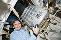 ISS-50 Peggy Whitson unloads spaceflight hardware delivered on SpaceX CRS-10.jpg