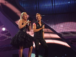 Iceland, Eurobandið, semi-final of Eurovision 2008.jpg