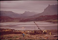 In October, 1972, a Pipeline of the Texas - New Mexico Pipeline Company Burst, Releasing 285,000 Gallons of Crude Oil Into the San Juan River near Shiprock, New Mexico, 10-1972 (3814969114).jpg