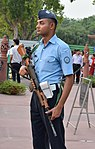 Indian Air Force Soldier guarding India Gate.jpg