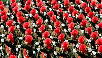 Rajput Regiment - The Rajput regiment during Republic day parade.
