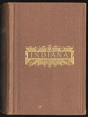Indiana (novel) - Cover to the 1870 translation of Indiana by George W. Richards