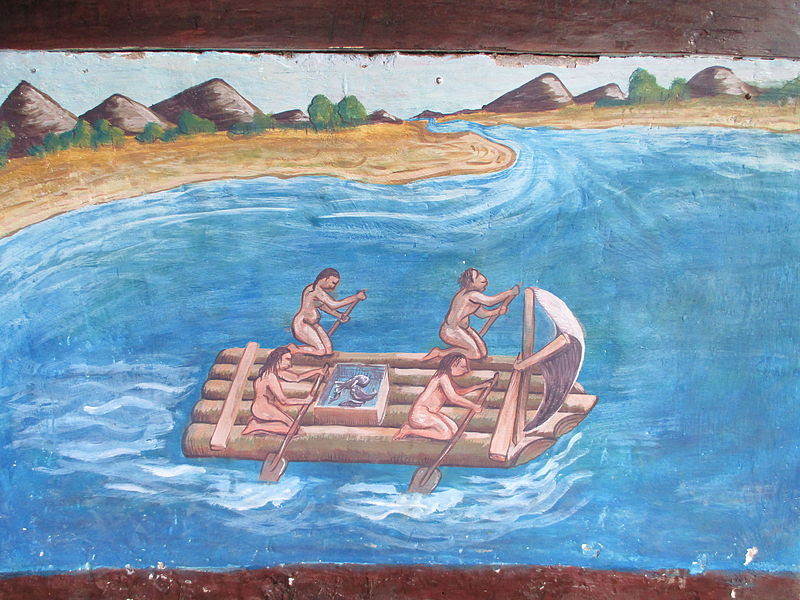 File:Indigenas pescando en la Provincia de Puerto Viejo, basado en un dibujo de G. Benzoni - Museo Agua Blanca.JPG