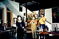 Ingrid Lucia and band at Kaldi's, New Orleans, 1995.jpg