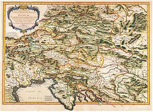 Inner Austria - Duchies of Styria, Carinthia, Carniola etc., 1657 map by Joan Blaeu