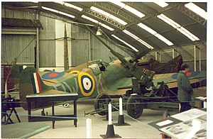 Kent Battle of Britain Museum - Image: Inside the Battle of Britain Museum at Hawkinge geograph.org.uk 23175