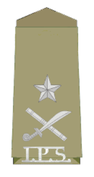 Inspector general - Insignia of an Indian Police Service officer with rank of inspector general of police
