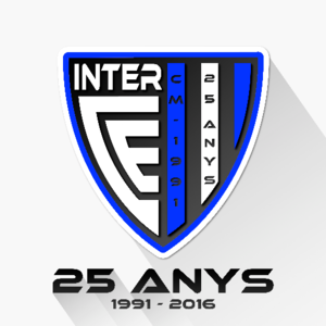 Inter Club d'Escaldes - 25th Anniversary crest (1991-2016).
