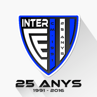 Inter Club d'Escaldes - 25th Anniversary crest (1991-2016).