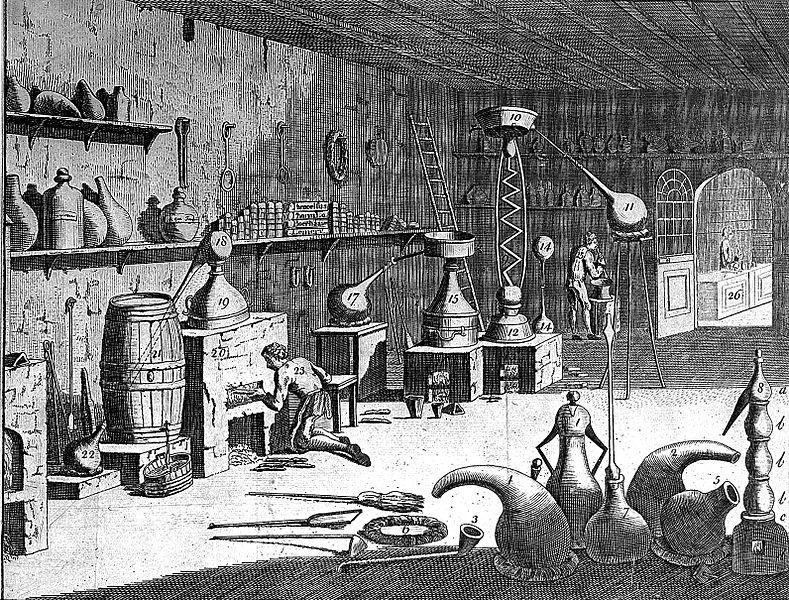 File:Interior of a pharmaceutical laboratory with people at work; Wellcome L0002208.jpg