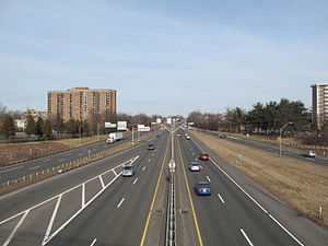 Interstate 291 (Massachusetts) - Eastbound