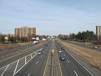 Interstate 291 (Massachusetts) - Eastbound