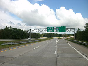 U.S. Route 25 in Michigan - I-94, shown here in August 2012 near Port Huron, replaced part of US 25.