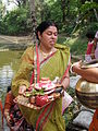Inviting Goddess Ganga - Hindu Sacred Thread Ceremony - Simurali 2009-04-05 4050079.JPG