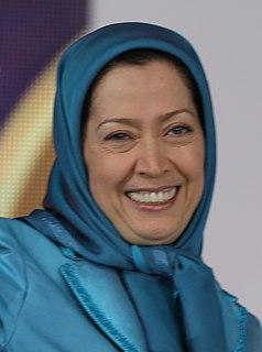 Maryam Rajavi Iranian leftist politician, leader of the Peoples Mujahedin of Iran