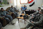 Iraqi National Police Officer meeting in Baghdad, Iraq DVIDS164281.jpg