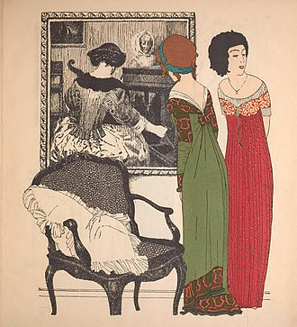 1900s in Western fashion - Paul Poiret's new silhouette of 1908 was a radical departure.