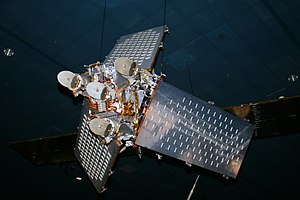 Iridium satellite constellation - Replica of a first-generation Iridium satellite