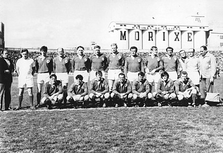 The Ireland team that played Argentina at Ferro sports club in 1970 Irlanda en argentina 1970.jpg