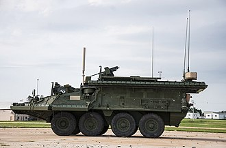 Iron Curtain (countermeasure) - Iron Curtain on a Stryker armored fighting vehicle