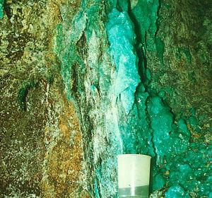 Iron Mountain Mine - Collecting drainage in the Iron Mountain Mine