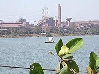 The Kudremukh Iron Ore Factory in Mangalore